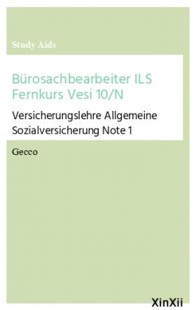 Bürosachbearbeiter ILS Fernkurs Vesi 10/N