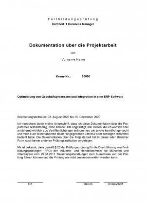 Projektdokumentation | Operative Professionals | Note 1 | IHK
