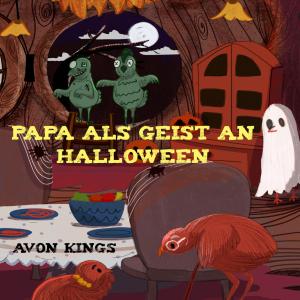 Papa als Geist an Halloween