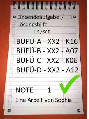 BUFÜ-A // BUFÜ-B // BUFÜ-C // BUFÜ-D // alle mit Note 1