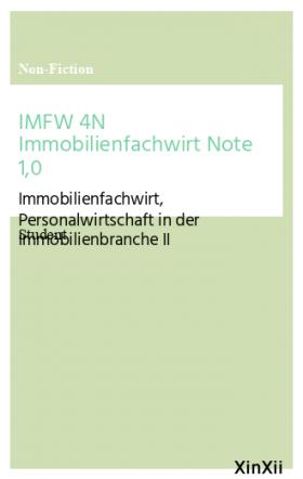 IMFW 4N Immobilienfachwirt Note 1,0