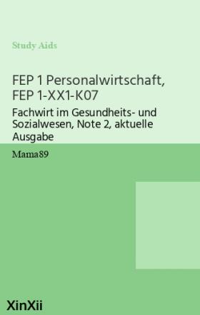 FEP 1 Personalwirtschaft, FEP 1-XX1-K07