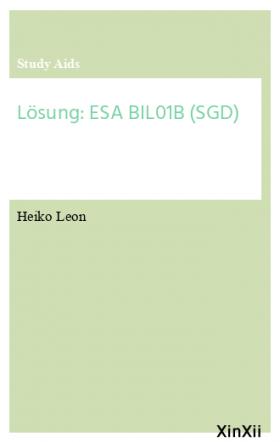 Lösung: ESA BIL01B (SGD)