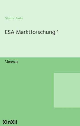 ESA Marktforschung 1