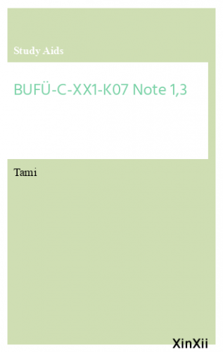 BUFÜ-C-XX1-K07 Note 1,3