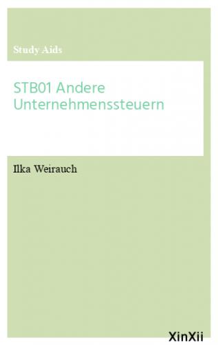 STB01 Andere Unternehmenssteuern