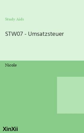 STW07 - Umsatzsteuer