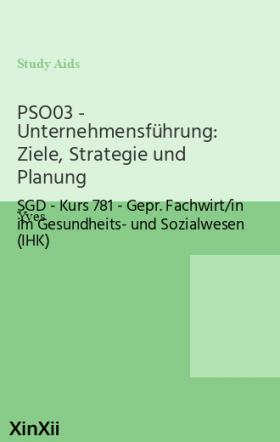 PSO03 - Unternehmensführung: Ziele, Strategie und Planung