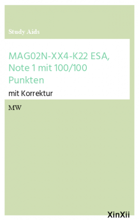 MAG02N-XX4-K22 ESA, Note 1 mit 100/100 Punkten