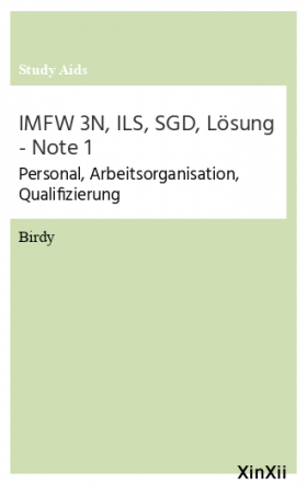 IMFW 3N, ILS, SGD, Lösung - Note 1