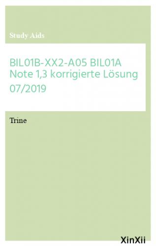 BIL01B-XX2-A05 BIL01A Note 1,3 korrigierte Lösung 07/2019