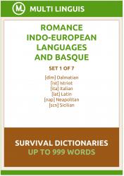 Romance Languages and Basque Language Survival Dictionaries