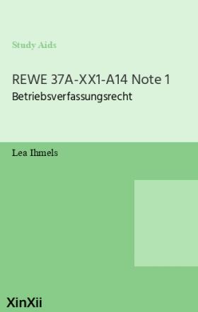 REWE 37A-XX1-A14 Note 1