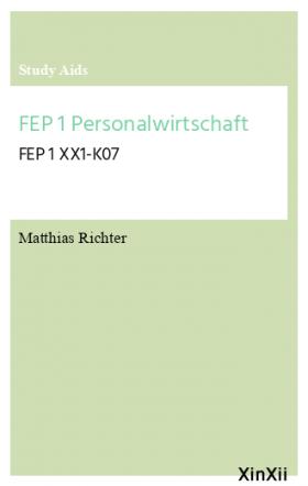 FEP 1 Personalwirtschaft
