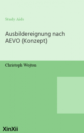 Ausbildereignung nach AEVO (Konzept)