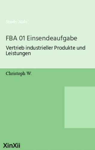 FBA 01 Einsendeaufgabe