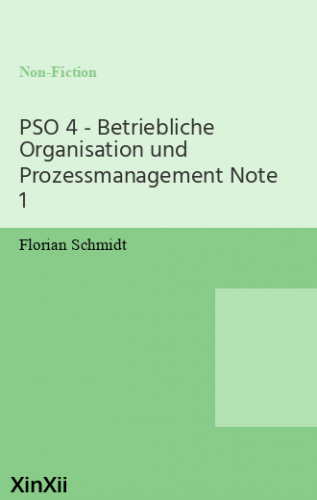 PSO 4 - Betriebliche Organisation und Prozessmanagement Note 1
