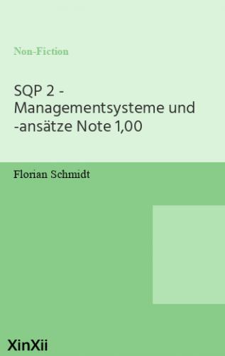 SQP 2 - Managementsysteme und -ansätze Note 1,00