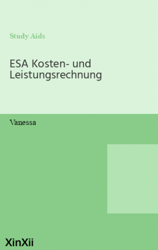 ESA Kosten- und Leistungsrechnung