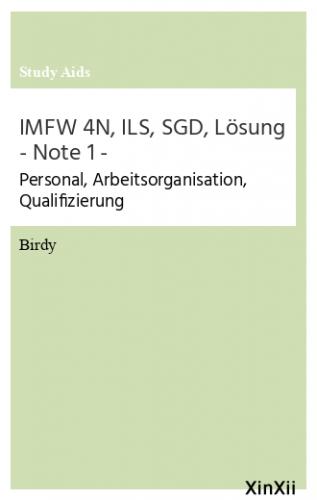 IMFW 4N, ILS, SGD, Lösung - Note 1 -