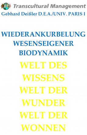 WIEDERANKURBELUNG WESENSEIGENER BIODYNAMIK