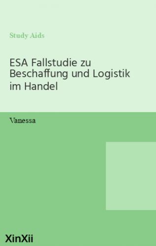 ESA Fallstudie zu Beschaffung und Logistik im Handel