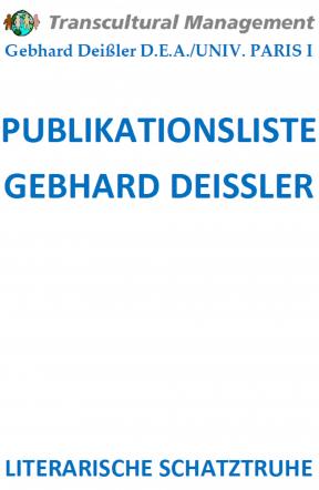 PUBLIKATIONSLISTE GEBHARD DEISSLER