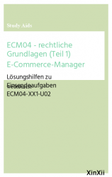 ECM04 - rechtliche Grundlagen (Teil 1) E-Commerce-Manager