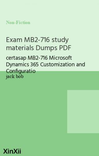 Exam MB2-716 study materials Dumps PDF
