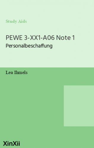 PEWE 3-XX1-A06 Note 1