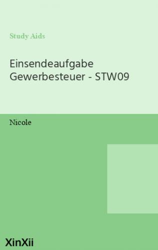 Einsendeaufgabe Gewerbesteuer - STW09
