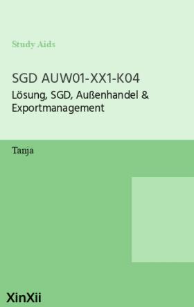 SGD AUW01-XX1-K04