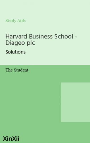 Harvard Business School - Diageo plc