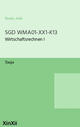 SGD WMA01-XX1-K13