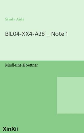 BIL04-XX4-A28 _ Note 1