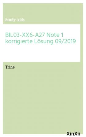 BIL03-XX6-A27 Note 1 korrigierte Lösung 09/2019