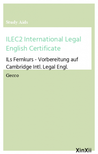 ILEC2 International Legal English Certificate