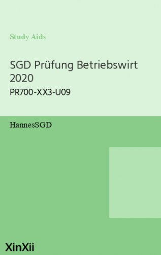 SGD Prüfung Betriebswirt 2020