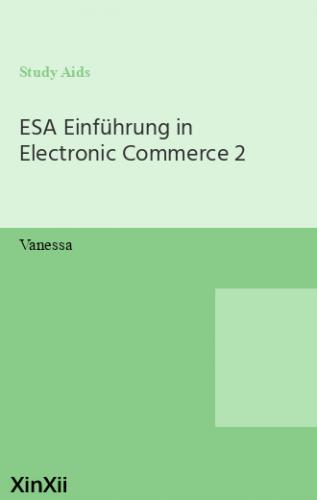 ESA Einführung in Electronic Commerce 2