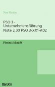 PSO 3 - Unternehmensführung Note 2,00 PSO 3-XX1-A02