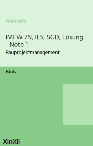 IMFW 7N, ILS, SGD, Lösung - Note 1-