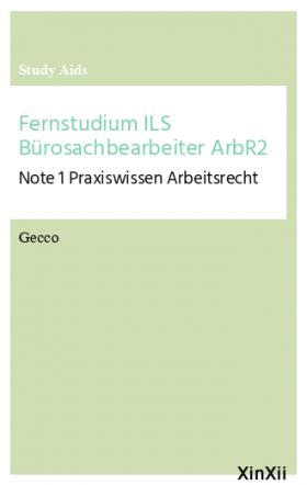 Fernstudium ILS Bürosachbearbeiter ArbR2