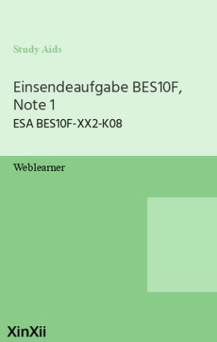 Einsendeaufgabe BES10F, Note 1