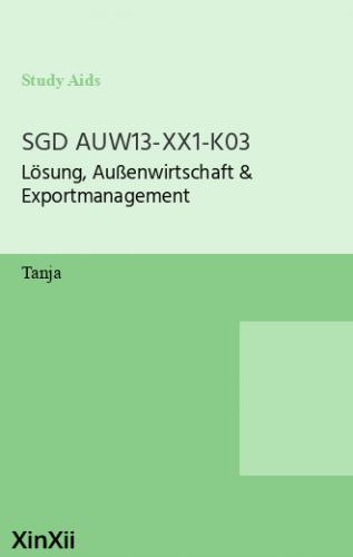 SGD AUW13-XX1-K03