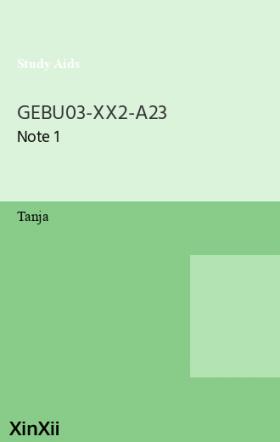 GEBU03-XX2-A23