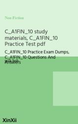 C_A1FIN_10 study materials, C_A1FIN_10 Practice Test pdf