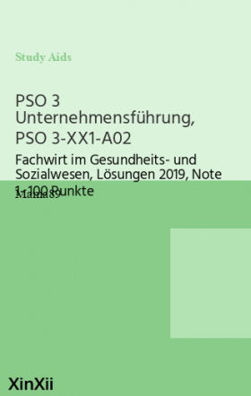 PSO 3 Unternehmensführung, PSO 3-XX1-A02