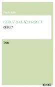 GEBU7-XX1-A23 Note 1