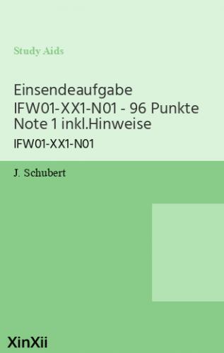 Einsendeaufgabe IFW01-XX1-N01 - 96 Punkte Note 1 inkl.Hinweise