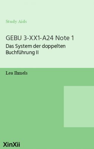 GEBU 3-XX1-A24 Note 1